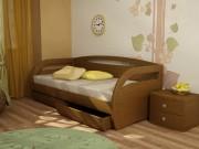 Угловая кровать с ящиком или доп. спальным местом