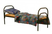 Одноярусные кровати металлические престиж класс